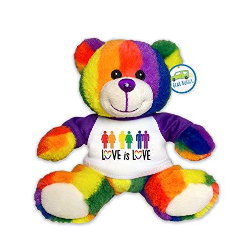 Bear Buggy Love is Love Plush Animals by RGU (Rainbow Pride Teddy, 6