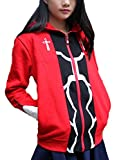 GK-O Unisex Anime Fate Stay Night Archer Red Zipper Thick Hoodie Cosplay Costume Sweatshirt (Large)