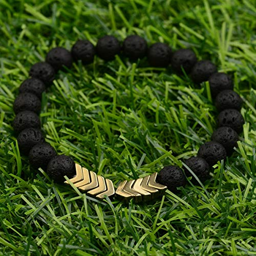 (Werrox Fashion 8MM Mens Natural Stone Gold/Silver Lion Buddha Beaded Charm Bracelets | Model BRCLT - 2701 |)