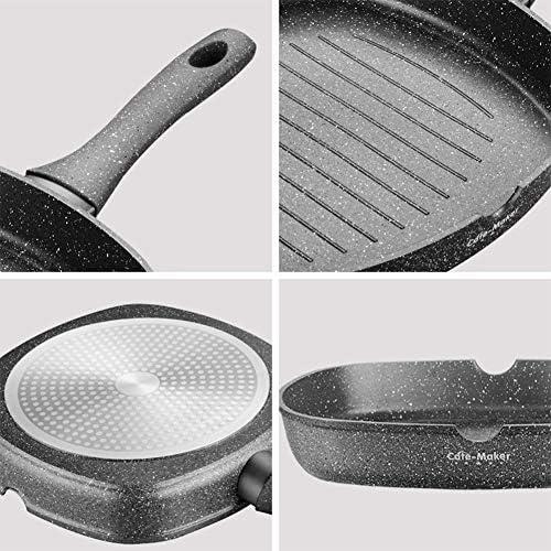 Mcfnb Poêle à Frire en Aluminium Antiadhésive Tout Le Poêle à Induction 28 Cm Noir