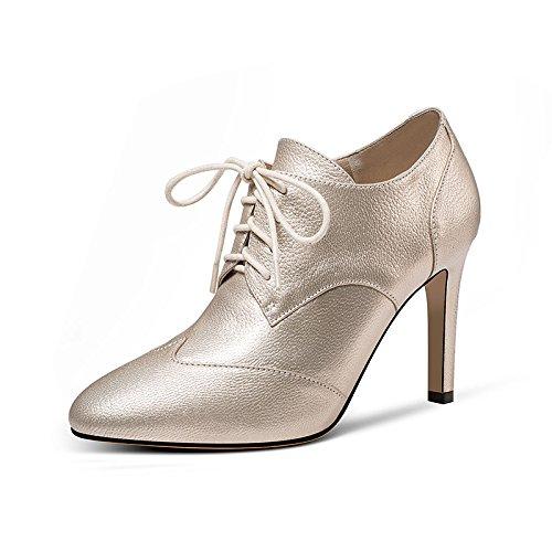 sujeción HUAIHAIZ de zapatos mujer noche de PU altos Tacones Champagne Color el correa tacones La de es r7YArPxqTw