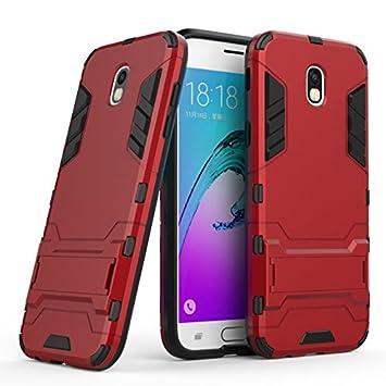 Samsung Galaxy J7 2017 Funda, SMTR Ultra Silm Híbrida Rugged Armor Case Choque Absorción Protección Dual Layer Bumper Carcasa con pata de Cabra para ...