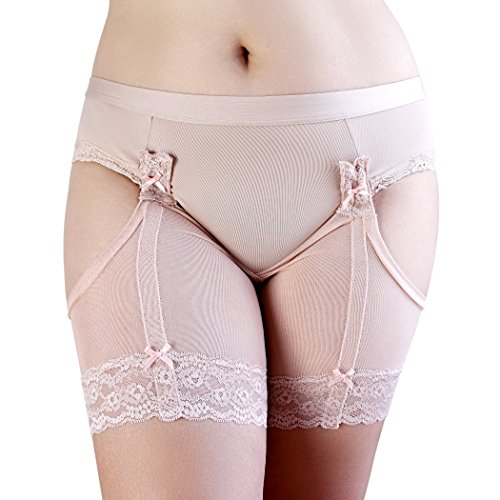 ChickyChaps :: stretch-mesh thigh bands/demi-shorts, that prevent inner thigh chafing. (Nude/Peach, Medium)
