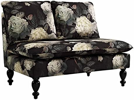 Riverbay Furniture Midnight Floral Settee