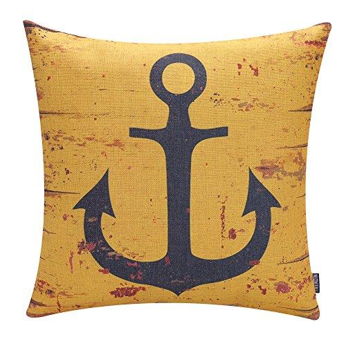 TRENDIN Retro Cushion Cover Cotton Linen Throw Pillow Case f