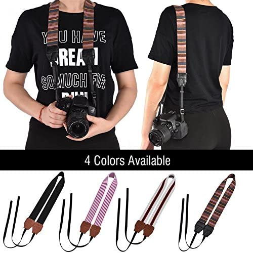 Universal Polyester Fabric Shoulder Neck Camera Belt Strap 154cm Long 1cm Wide Strap For DSLR Cameras Value-5-Star