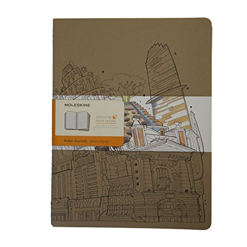 Moleskine Coloring Cover Cahier, Extra Large, Ruled, Kraft Brown, Soft Cover (8055002851640)