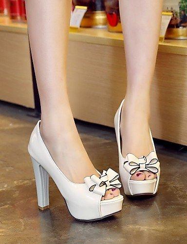 ShangYi Womens Shoes Heel Heels / Peep Toe / Platform Sandals / Heels Outdoor / Dress / Casual Black / Red / White Red