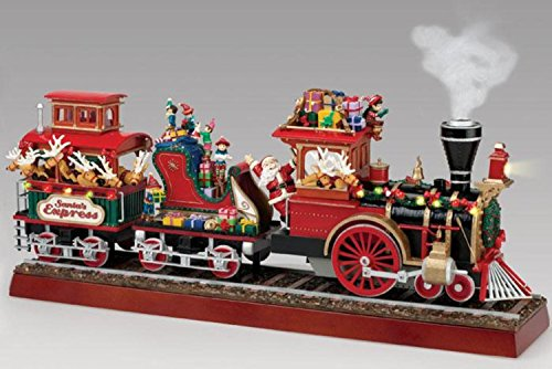 Animated Musical Figurine (Mr. Christmas Animated Musical Lighted Santa's Express Decoration #79001)