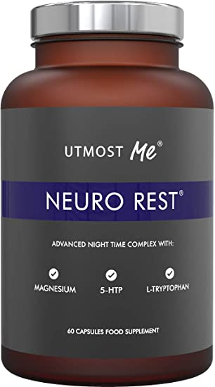 5-HTP, Magnesium, Natural Melatonin for Sleep - Montmorency Cherry,  Chamomile, L Tryptophan