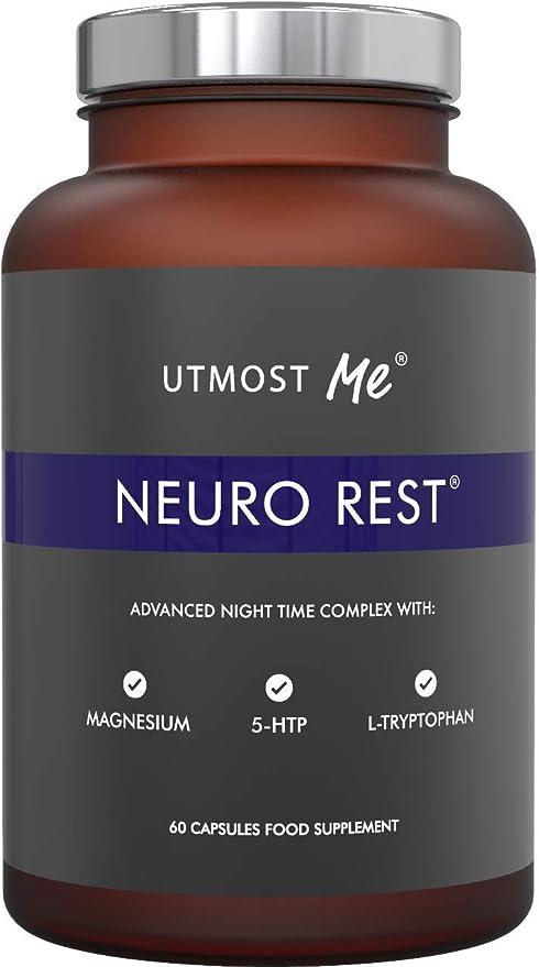 5-HTP + magnesio + melatonina natural para el sueño - Montmorency Cherry, Chamomile