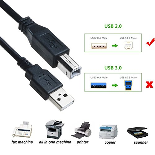 PwrON 6ft USB Cable PC Laptop Data Sync Cord for Arturia KeyLab 25 49 61 MIDI Keyboard Controller