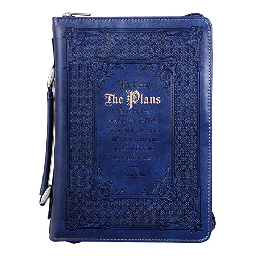 (Bible Cover, The Plans I Have For You, Blue, Large)