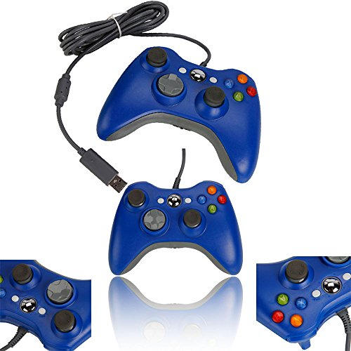 MaxLLTo Wired USB Game Pad Controller for Microsoft Xbox 360 PC Windows 7 Blue