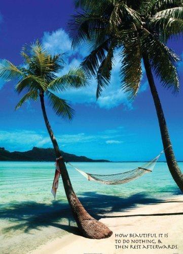 Paradise Beach with Spanish Proverb 36x24 Photograph Art Pri