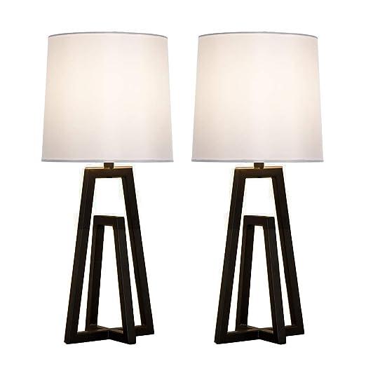 Amazon.com: Casilvon - Juego de 2 lámparas de mesa de metal ...