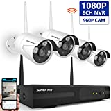 Cheap [Expandable System] Security Camera System Wireless,SMONET Full HD 8CH 1080P Video Security System,4pcs 960P Indoor/Outdoor Wireless IP Cameras,65ft Night Vision,P2P,Easy Remote View,NO Hard Drive