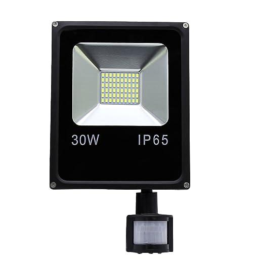 HG® 30W Blanco frío Foco proyector LED PIR sensor detección de ...