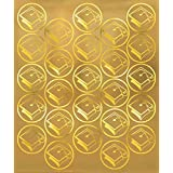 Grad Metallic Sticker Seals | Party Favor | Pack of 50