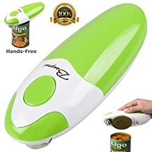 BangRui Smooth Soft Edge Electric Can Opener with One-Button Start and One-Button Manual Stop(Green)