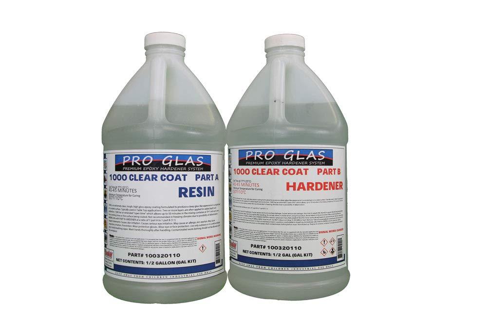 Table Bar Top Clear Epoxy Resin - ProGlas 1000- 1 Gallon Kit