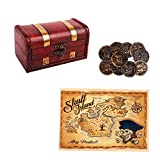 WaaHome Pirate Treasure Boxes Small Wood Treasure