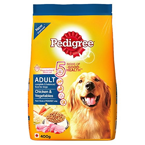 Pedigree Adult Dog Food Chicken & Vegetables, 400 g (Small Pack)