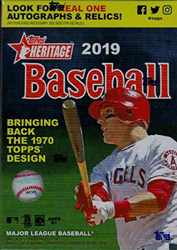 2019 Topps Heritage MLB Baseball Unopened Blaster Box with a Chance for Rookie Cards, Relic Cards and Autographs plus EXCLUSIVE 1970 Topps Player Story Booklets ()