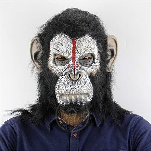 QIAO Halloween Props Orangutan Animal Mask Cosplay Party Tidy Latex Props Fancy Dress Headgear (Color : A) -