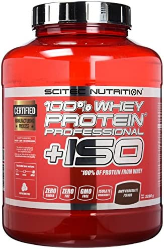 Scitec Nutrition Protein 100% Whey Protein Professional+ISO, Schokolade, 2280g