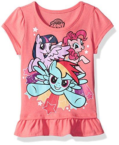 My Little Pony Little Girls' Short Sleeve Pullover, Orange, 6