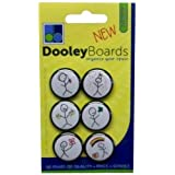 Dooley Stick Figure Magnets, 1-Inch, Pack of 6 (DRMSF)