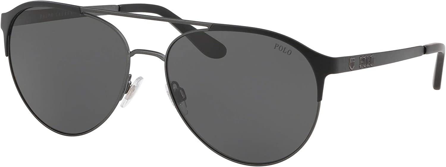 Ralph Lauren POLO 0PH3123 Gafas de sol, Matte Dark Gunmetal/Black ...