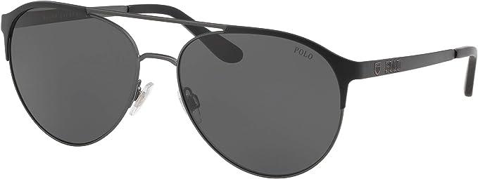 Ralph Lauren POLO 0PH3123 Gafas de sol, Matte Dark Gunmetal/Black ...