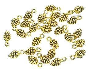 638825a59a7 Amazon.com  Alimitopia 50pcs Christmas Pine Cone Small Pendant ...