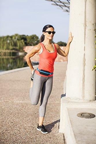 Spibelt Uni Original High-Visibility with Zipper Lauftasche, Turquoise, S-XL