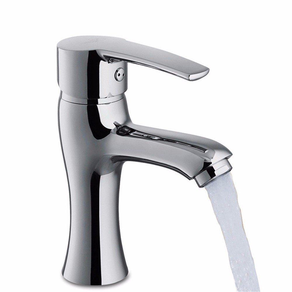 Hlluya Hlluya Hlluya Wasserhahn für Waschbecken Küche Keramik- Kartusche Basin-Brass einzigen Griff Einloch Mischbatterie 4aadc1
