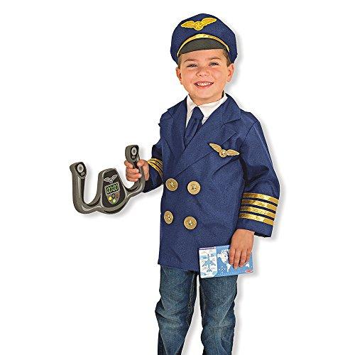 Navy Pilot Uniform Costume (Pilot Role Play Costume Set, Imaginative Toys, 2017 Christmas Toys)
