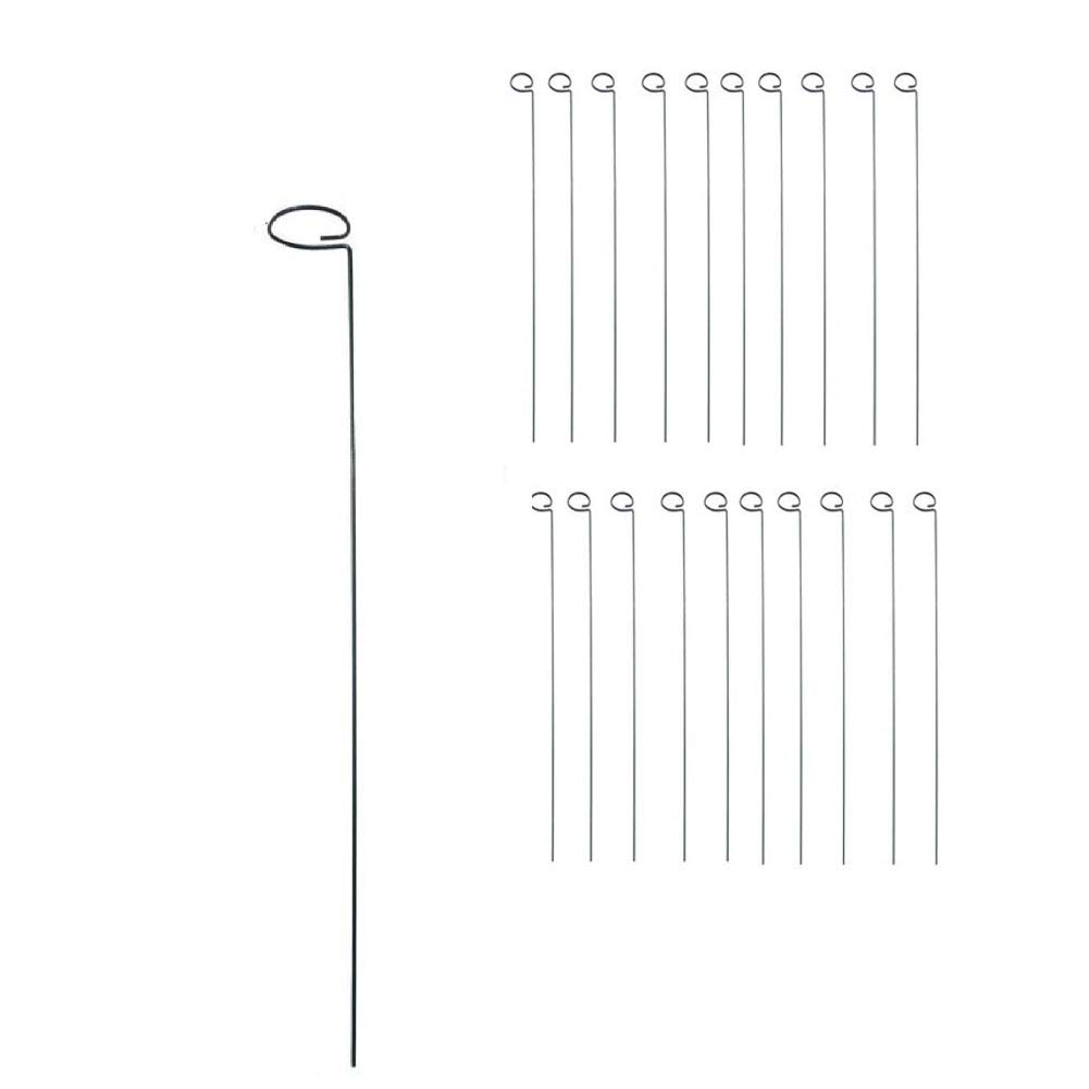 MTB 24 inch Single Stem Plant Support Stakes, 20 Pack (Also Sold as 10 Pack)