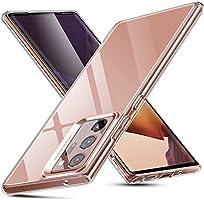 ESR Klare Glas Hülle für Samsung Galaxy Note 20 Ultra [Transparente Panzerglas Rückseite] [Flexibler TPU Rahmen] –...