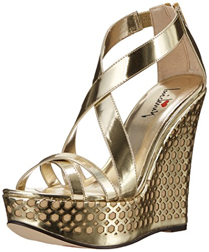 Luichiny Women's Cor Eena Platform Sandal, Gold, 8 M (Luichiny Womens Dress Sandals)