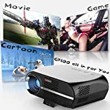 dinlong GP100 LCD Video Home theater Projector w/1080P Full-HD Level Quality 3200 Lumens 90-240V US