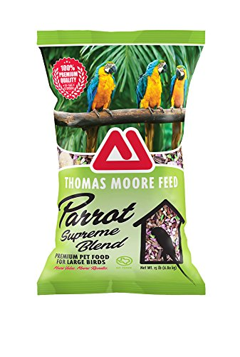 TMF 100% Premium Quality Parrot Supreme Blend Bird Seed , 15 lb - Large Striped Sunflower Seeds