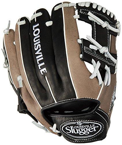 Louisville Slugger 11-Inch FG Omaha Select Baseball Infielders Gloves, Black/Grey, Right Hand Throw