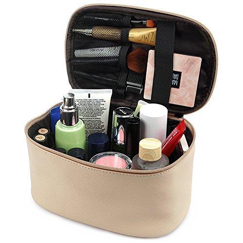 Cosmetic Bag,365park Travel Makeup Organizer Bag Cosmetic Case(Khaki) by 365park