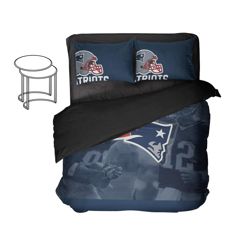 American Football Player Number 12 Bed Set Fox Fort Bedding Duvet Cover King Sports Sheet Sets Bed Queen 3pcs Full Twin (Twin 3pcs)