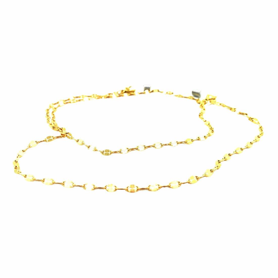 Kalevel Eyeglasses Chain Eyeglasses Holder Glasses Strap Necklace for Women Men Gold
