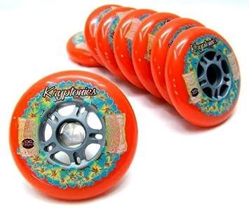 "Kryptonics ""Flower 100 mm/85 a Red ruedas para patines en línea"
