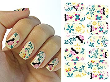 Amazon Full Wrap Nail Art Water Transfer Decal Sticker Little