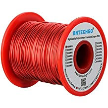 BNTECHGO 18 AWG Magnet Wire - Enameled Copper Wire - Enameled Magnet Winding Wire Temperature Rating 155℃ Widely Used for Transformers Inductors